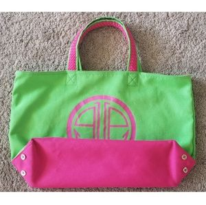 Green and Pink Large Lilly Pulitzer Tote Bag
